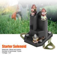 12V 3 Pole Starter Solenoid Swith For MTD 109946 146154 1753539 AM138497 Black