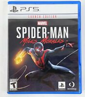 Marvel Spider Man Miles Morales Launch Edition Sony PlayStation 5 UNUSED DLC PS5