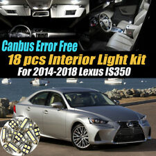 18Pc 2014-2018 Lexus IS350 Canbus Error Free White Interior LED Light Bulb Pack