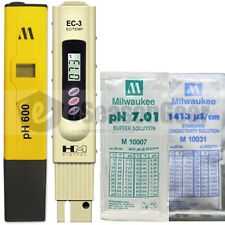 PH600 + EC-3 + pH 7 + 1413 µs/cm COMBO - Milwaukee HM Digital Meter/Solution TDS
