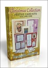 CARD-Making DVD-Festosa cartolina di natale KIT vol. 1. Inc Renna Cibo Kit Scheda