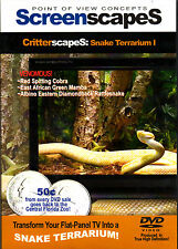 ScreenscapeS: SNAKE TERRARIUM 1 - VIRTUAL HALLOWEEN SPECIAL EFFECTS DVD - COBRA!