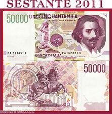 "ITALY ITALIA 50.000 50000 Lire BERNINI 1992 2° "" A"" P 116a SPL++/QFDS  XF++/AUNC"
