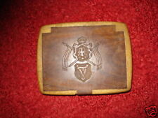 UNIQUE  ANTIQUE EXCEPTIONAL PALISANDER WOOD SNUFF BOX COAT OF ARMS