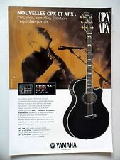 PUBLICITE-ADVERTISING :  Guitare YAMAHA CPX et APX  07-08/2007 David Gilmour