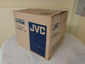 Vintage JVC C-1327 13 inch TV retro gaming TV, dated 1988 with remote tested