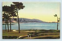 Carmel Bay Del Monte Lodge Pebble Beach Golf Course California CA Postcard