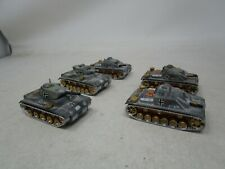 Vintage Lot of 5 ROCO  *MILITARY TANKS*  (P III DBGM)  Lot D