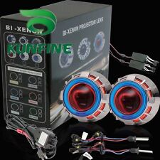 Hot item Car Bi-Xenon HID Projector Lens Kit with Double angel eyes and bulbs