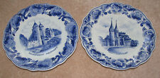 Norelco Delf Blue Hand Painted 1959- 1960, Made in Holland (Set of 2)