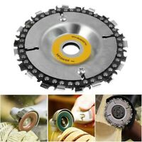 4 inch Woodworking Steel Plate Angle Grinding Chain Wheel Wood Carving New