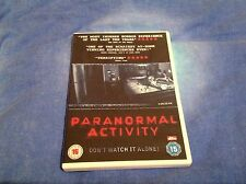 Paranormal Activity DVD - Region 2 Rated 15 - Ghosts Horror Scary
