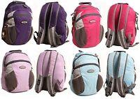 Ladies JEEP Backpack School Bag Hiking Rucksack Work Purple,Lilac,Hot Pink, Blue