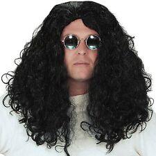 Adult Mens Howard Stern Ozzy Osbourne Disc Jockey Wig Black Hair Accessory New