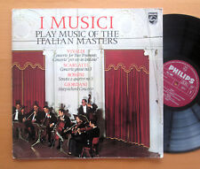 I Musici Play Music Of The Italian Masters Philips CXL 15000 STEREO Gatefold LP