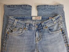 "MEK DENIM USA Blue Jeans SZ 28 x 32  Waist 30"" Inseam 31"" Distressed Casual"