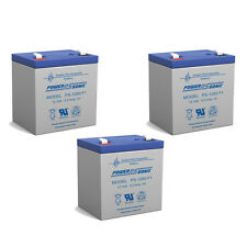 Power-Sonic 12V 5AH Battery for Razor Jr. Electric Wagon Ride-on Toy - 3 Pack