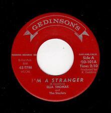 POPCORN/R & B-ELLA THOMAS/STARLETS-GEDINSON'S 101-I'M A STRANGER/IF YOU LEAVE ME