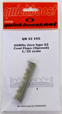 Quick Boost A6M5c Zero Type 52 Cowl Flaps Open, Upgrades 1/32 195 Hasegawa  ST
