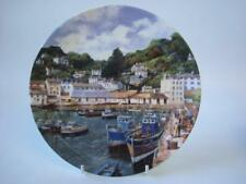 DANBURY MINT & WEDGWOOD SAFE HARBOURS  FISHING BOATS AT POLPERRO  PLATE