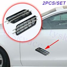 Universal Car Head Side Fender Simulation Air Vent Inlet Grille Decal Trim Parts