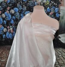 """SPARKLE ORGANZA SHEER FABRIC ROSETTE PINK 45"""" BTY PAGEANT, FORMAL WEAR,"""