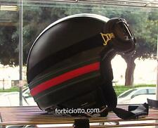Casco Vespa Vintage Colori Gucci Nero Personalizzabile In Pelle S M L XL Fashion