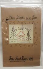 Three Stitches at a Time #502 Home Sweet Home  Needlework Pattern 8x10