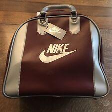 Vtg Nike Bowling Ball Carrier Bag Maroon Key Chain Hang Tag
