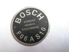 schild Bosch Typenschild Hupe Oldtimer FO6 AS 10 FO 6 s13