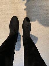 Negro Sobre La Rodilla Botas de Matalan Talla 8 (42)