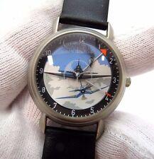 """BON TON, Dogfight,""""Corsair Ace"""",Spinning hit Luftwaffe,RARE! MEN'S WATCH,1761"""