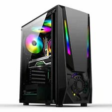 +RUIX+Tower Gaming Pc Gehäuse USB 3.0 ATX ,M-ATX,Mini-ITX Midi RGB Streifen-HMZ