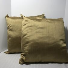 Gold Square Decorative Toss Couch Pillow Christmas 18 inch Set 2