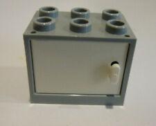 1 x LEGO® 4533/4532 Schrank,Kasten mit Tür/Klappe neuhellgrau,weiss 2x3x2