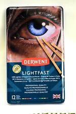 Derwent Lightfast Oil-Based Colored Pencils 12-Count Set 2302719 New sealed