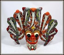 """Hand Carved & Painted Mask from Sri Lanka""  INCREDIBLE (10""H x 12"" W x 3.75"" D)"