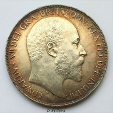 More details for 1902 king edward vll silver .925 crown in capsule, high grade with good detail.