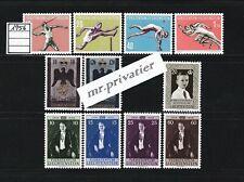 LIECHTENSTEIN 1956 - Complete Year.  MNH.  €88
