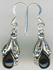 Unbranded Natural Onyx Drop/Dangle Fine Earrings