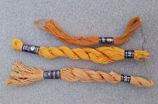 Metz Stickgarn Anchor Sticktwist 3 Garne Beige 306 senfgelb 582 braun 309