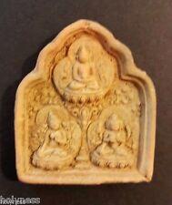 ANTIQUE TIBET BUDDHA CLAY AMULET 1200-1500 AD / RARE / #4
