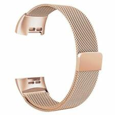 Replacement Magnetic Loop Strap Stainless Steel Wrist Band for Fitbit Charge 3