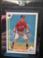 1991 UPPER DECK #55 CHIPPER JONES ROOKIE CARD RC ATLANTA BRAVES HOF