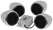 NEW BOSS AUDIO MC470B MOTORCYCLE BLUETOOTH 4 SPEAKER SOUND SYSTEM 1000 WATTS