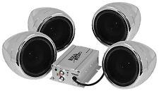 NEW BOSS AUDIO MC470B MOTORCYCLE BLUETOOTH 4 SPEAKER SOUND SYSTEM 1000 WATTS