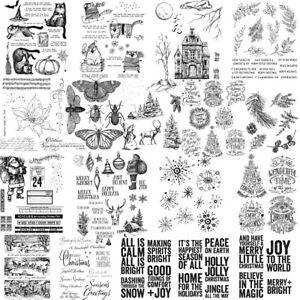 Weihnachtsmann Wörter Klar Gummi Stempel für Scrapbooking Embossing Karte Dekor