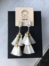 C&C California White Tassel Earrings
