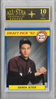 Derek Jeter Graded 1992 Front Row Draft Pick Card No# 55 10 Mint