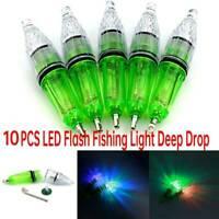 10PCS LED Flash Fishing Light Deep Drop Underwater Squid Strobe Bait Lure Lamps